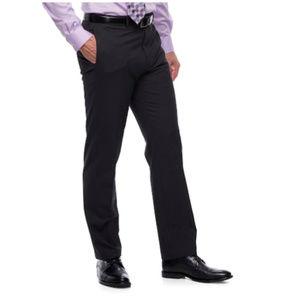 Men's Flex Straight Fit Charcoal Dress Pants